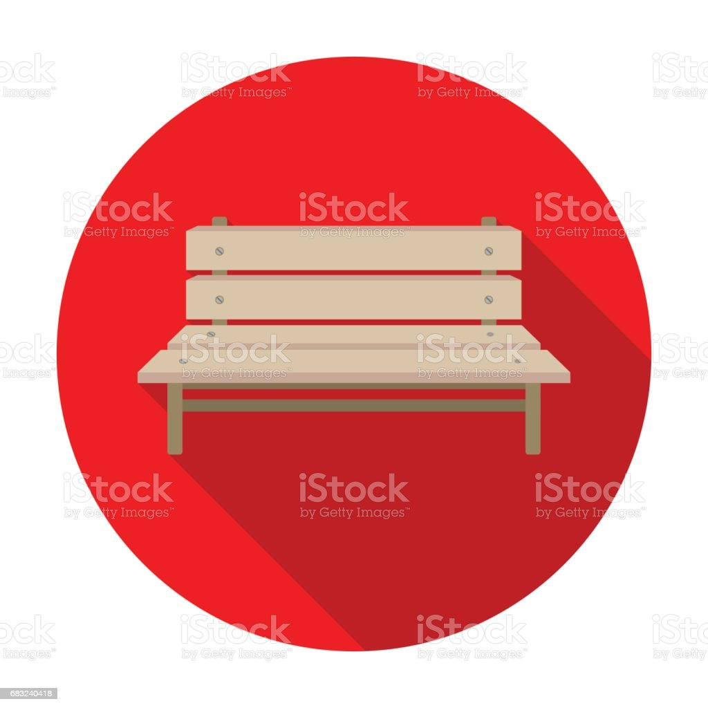 Bench icon in flat style isolated on white background. Park symbol stock vector illustration. 免版稅 bench icon in flat style isolated on white background park symbol stock vector illustration 向量插圖及更多 傢俱 圖片