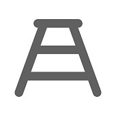 Pixel perfect Bench icon, Ladder, Construction element for commercial, print media, web or any type of design projects.