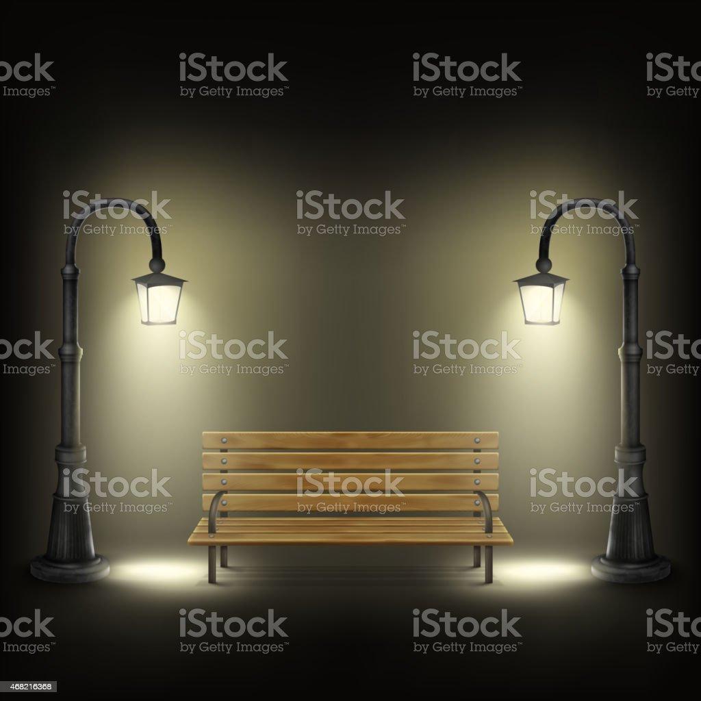 Bank wird von Lampen. Lizenzfreies bank wird von lampen stock vektor art und mehr bilder von 2015