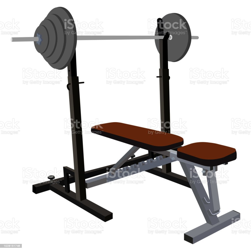 Bench Press Machine Gym Equipment For Bodybuilding And Weightlifting  Exercises Stock Illustration - Download Image Now - iStock