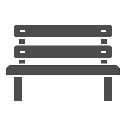 Bench solid icon, Oktoberfest concept, Park chair sign on white background, Outdoor bench icon in glyph style for mobile concept and web design. Vector graphics