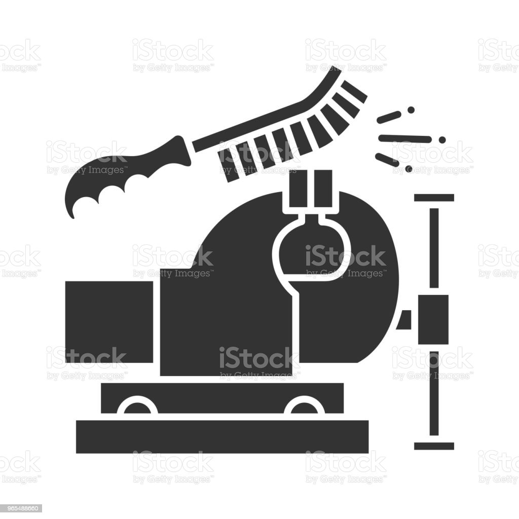 Bench Vice Cleaning With Wire Brush Icon Stock Vector Art & More ...