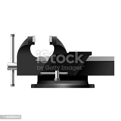 Bench vise, metal clamps for metal work - workbench vice tool for parts fixing, screw vise