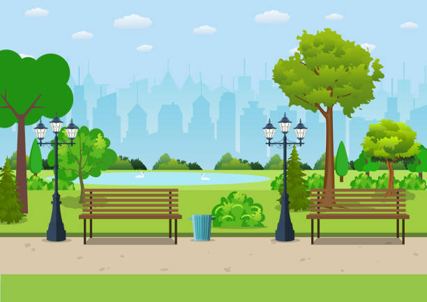 Best Park Illustrations Royalty Free Vector Graphics