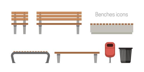 Fine Best Wooden Bench Illustrations Royalty Free Vector Machost Co Dining Chair Design Ideas Machostcouk