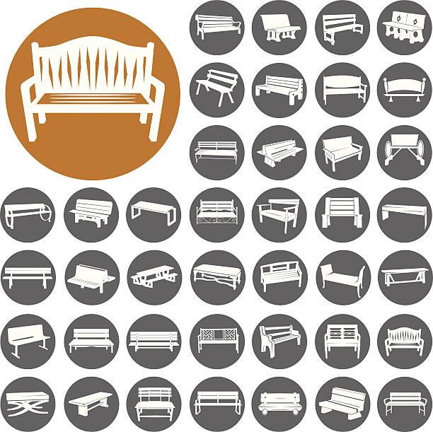 Bänke icons set.  Illustration eps10 – Vektorgrafik