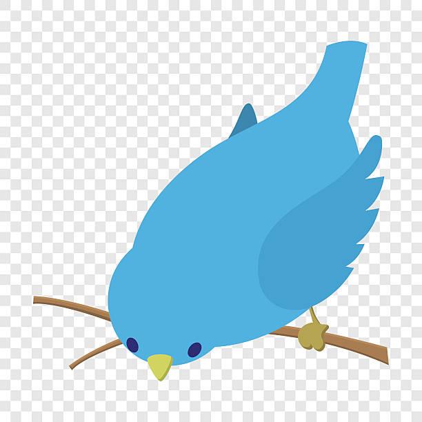 Bend down blue bird illustration vector art illustration