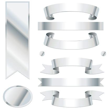Bending silver ribbons