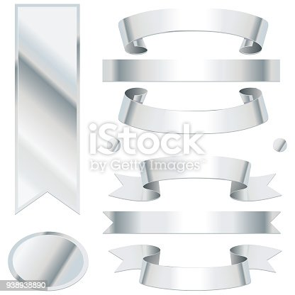 Bending silver ribbons