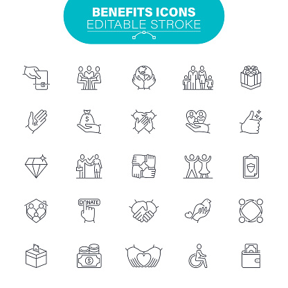 Benefits and Donation Icons