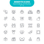 Charity and Relief Work, USA, Community, Care, Editable Icon Set