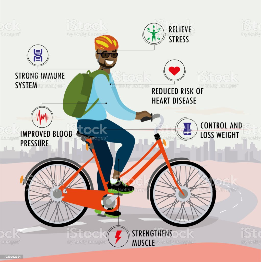 Benefits Of Bicycle Fitness Sport And Healthcare Concept