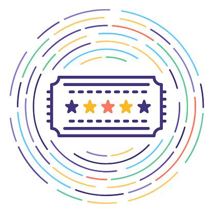 Benefits & Perks Line Icon Illustration