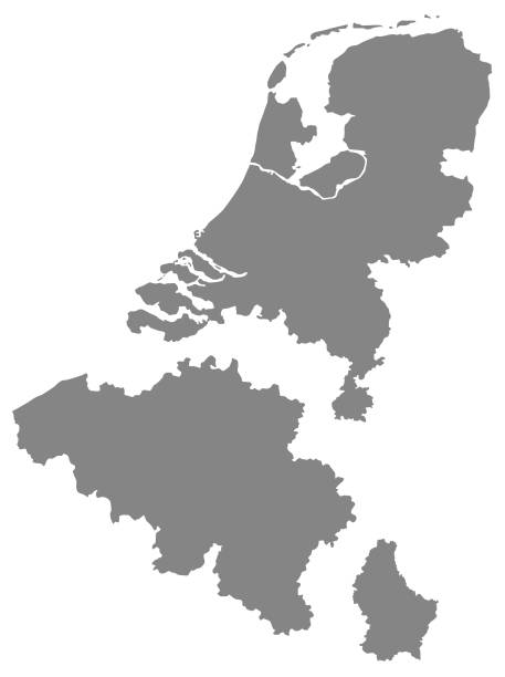 Benelux countries map vector illustration of Benelux countries map benelux stock illustrations