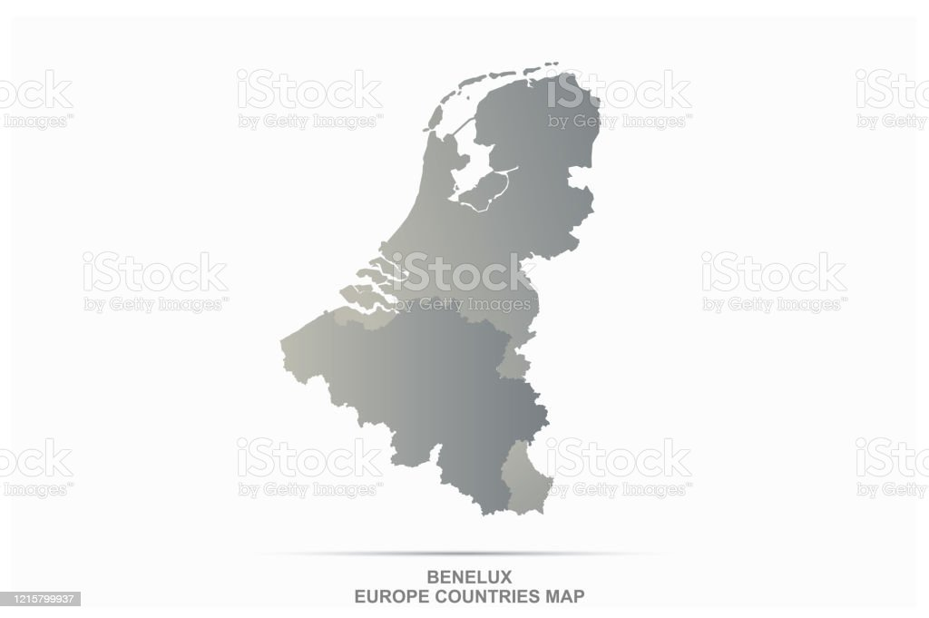 Picture of: Benelux Map Belgium Netherlands Luxembourg Vector Map Stock Illustration Download Image Now Istock