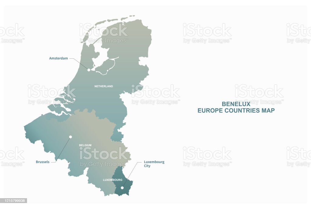 Benelux Map Belgium Netherlands Luxembourg Vector Map Stock Illustration Download Image Now Istock