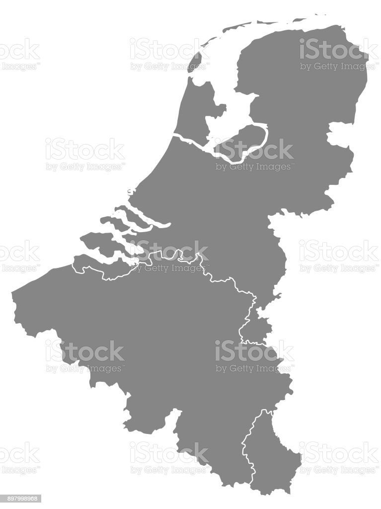 Benelux Map Stock Vector Art & More Images of Capital ...