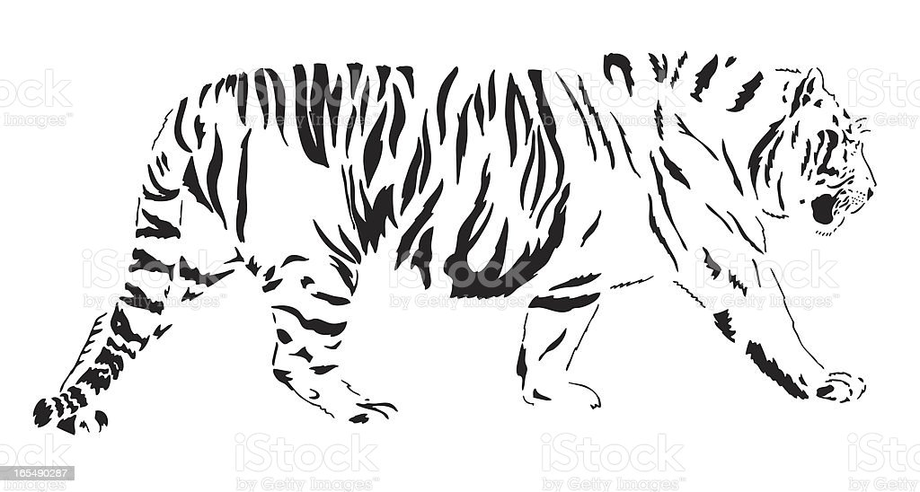 Bengal Tiger royalty-free bengal tiger stock vector art & more images of animal