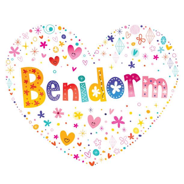 benidorm - stadt in spanien - alicante stock-grafiken, -clipart, -cartoons und -symbole