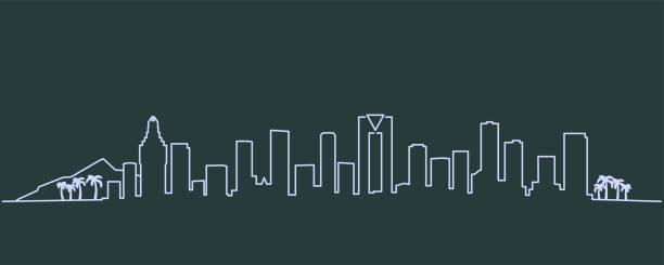 benidorm single line skyline profil - alicante stock-grafiken, -clipart, -cartoons und -symbole