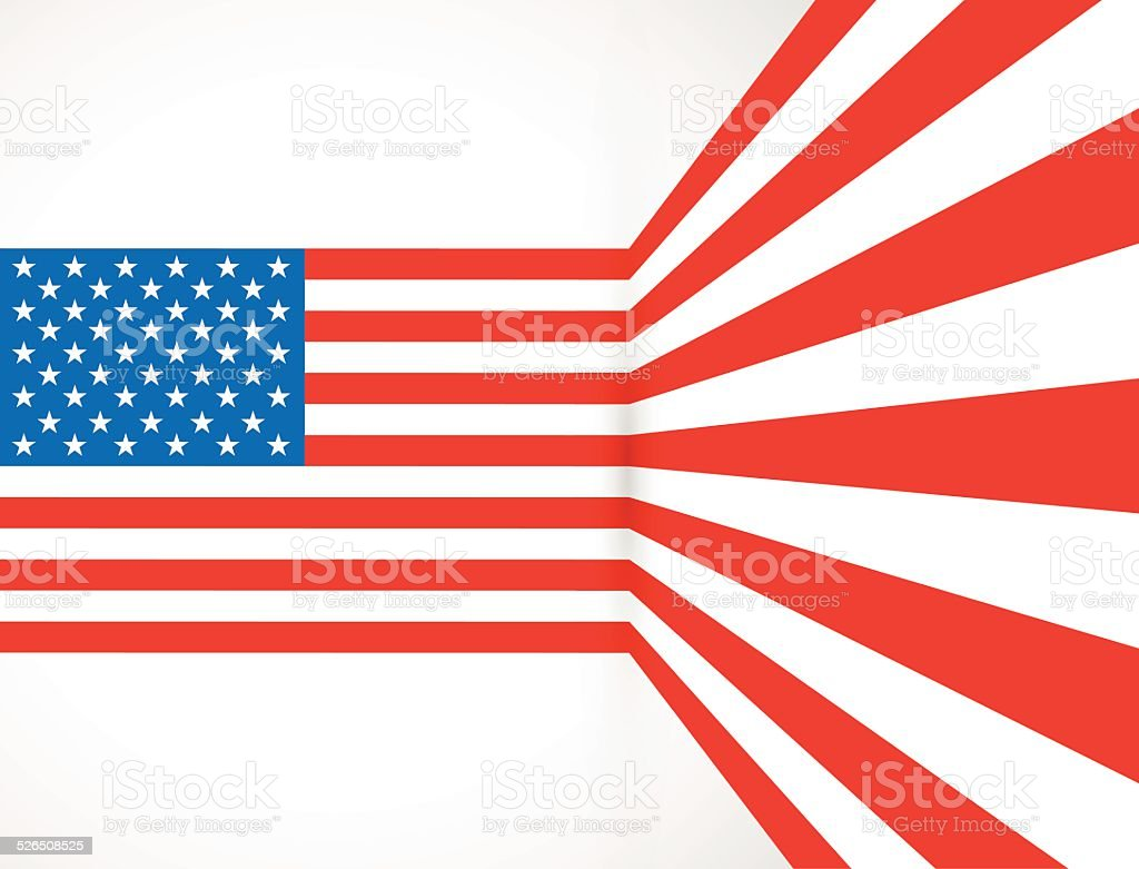bent american flag stock vector art more images of abstract