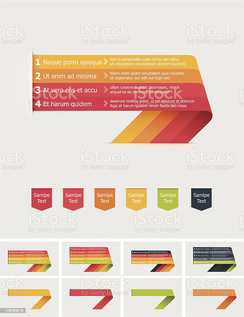 Bent stripes royalty-free stock vector art