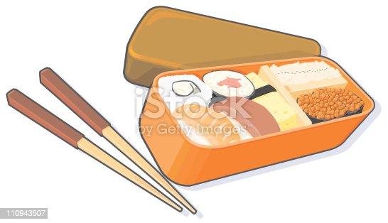 bento lunch box stock vector art 110943507 istock. Black Bedroom Furniture Sets. Home Design Ideas