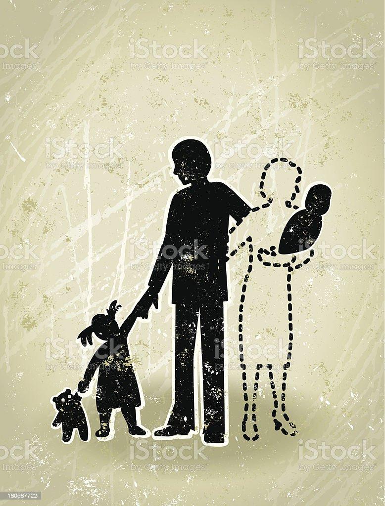 Deuil-Missing mère de famille - Illustration vectorielle
