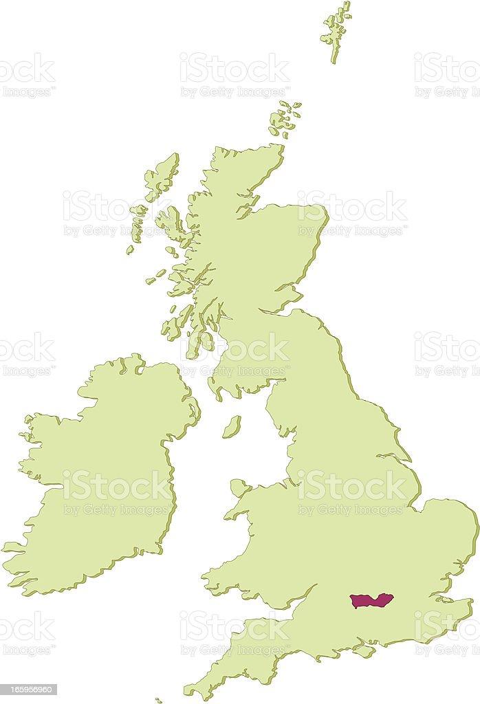 UK Berkshire map royalty-free stock vector art