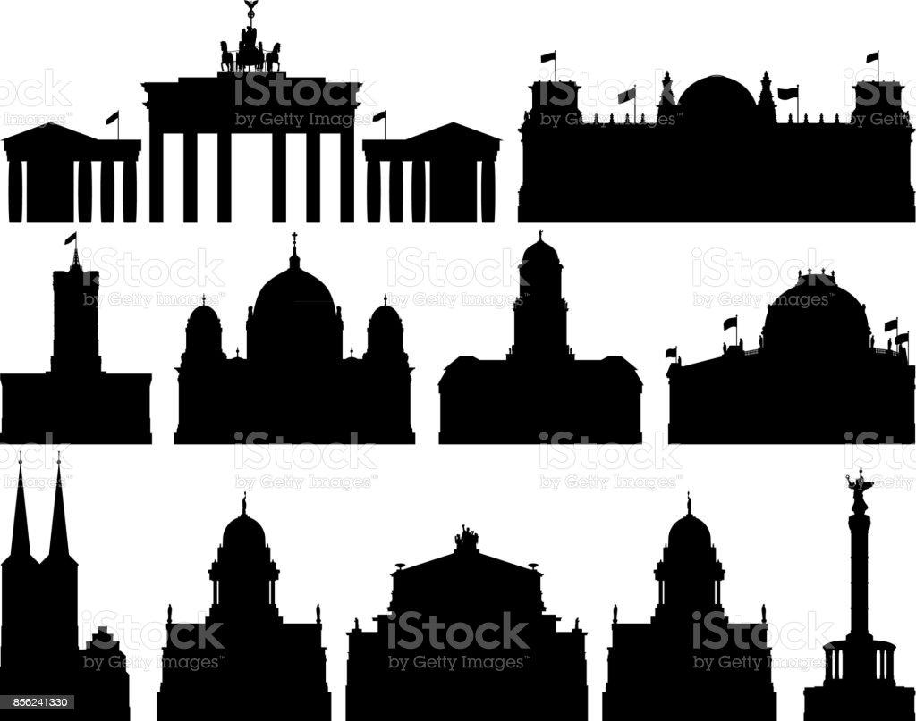 Berlin Buildings vector art illustration