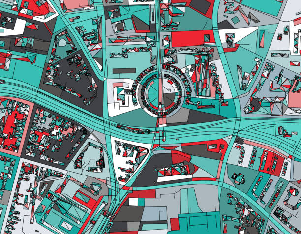 bildbanksillustrationer, clip art samt tecknat material och ikoner med berlin city ilustration karta - berlin city