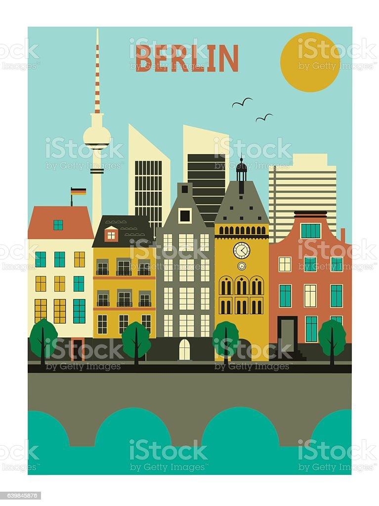 Berlin city. – Vektorgrafik