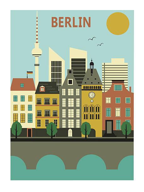 bildbanksillustrationer, clip art samt tecknat material och ikoner med berlin city. - berlin street