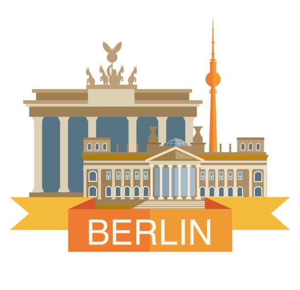 bildbanksillustrationer, clip art samt tecknat material och ikoner med berlin city - berlin city