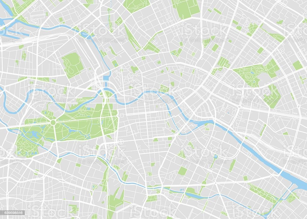 Berlin colored vector map – Vektorgrafik