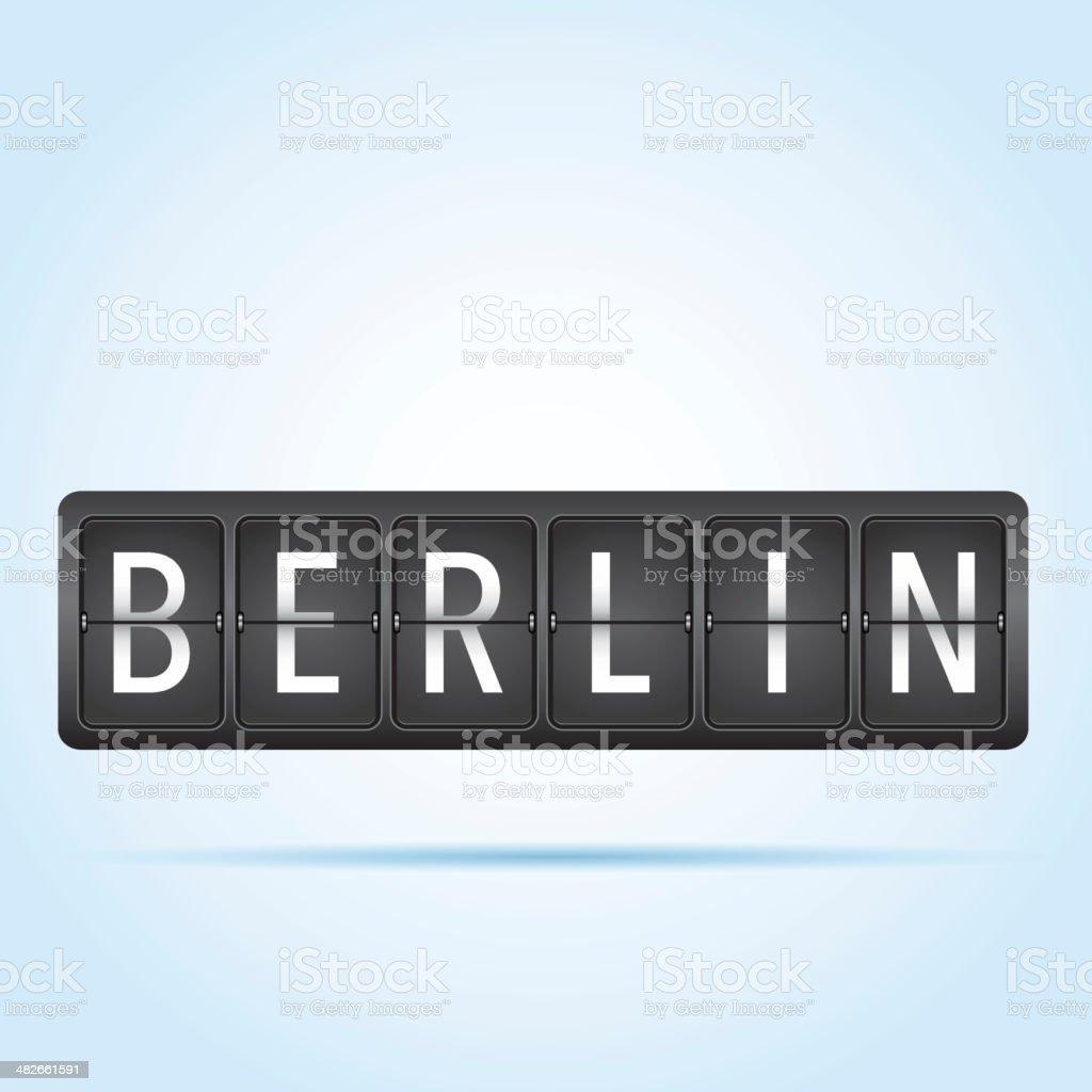 Berlin departure board royalty-free stock vector art
