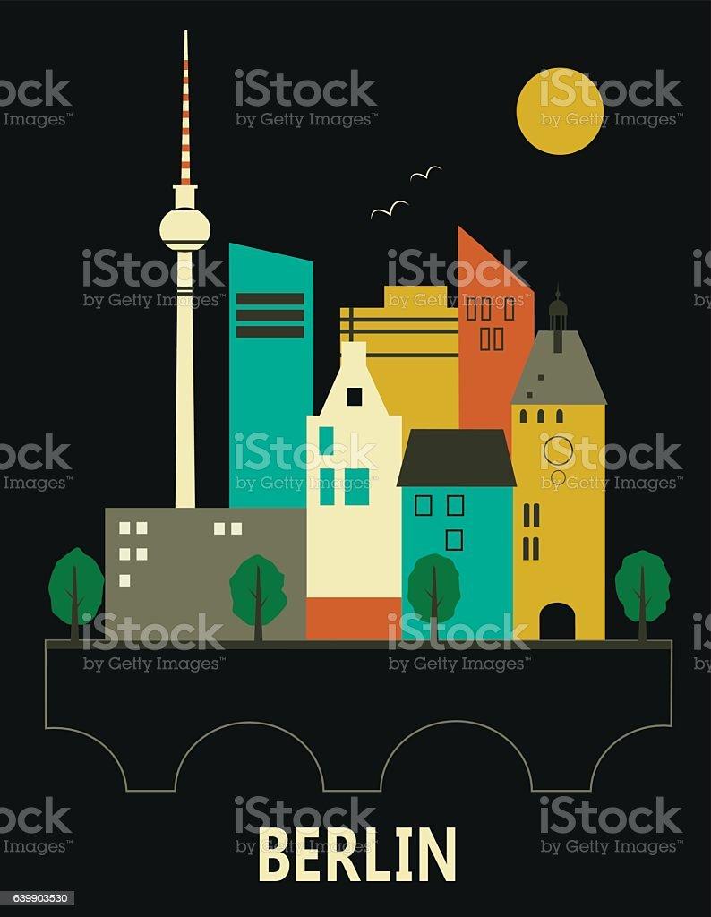 Berlin Germany. – Vektorgrafik