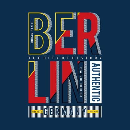 berlin graphic typography t shirt design, vector vintage illustration