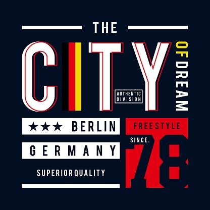 berlin image design typography t shirt