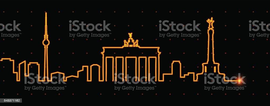 Berlin Light Streak Profile vector art illustration