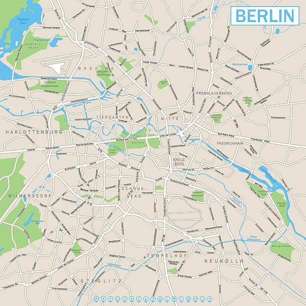 bildbanksillustrationer, clip art samt tecknat material och ikoner med berlin map and navigation icons - berlin street