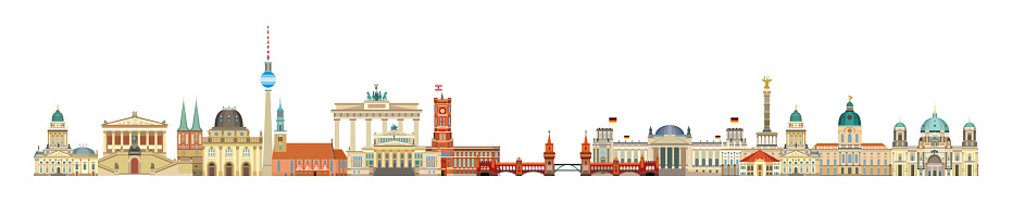 Berlin skyline vector 7