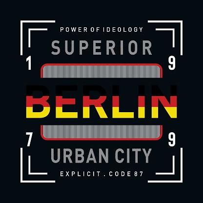 berlin typografhy design - Vector for t shirt - Vector.