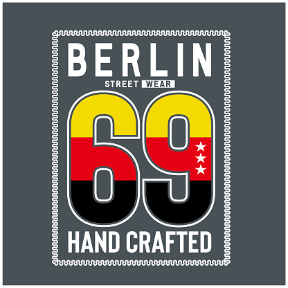 berlin typography for t shirt print.