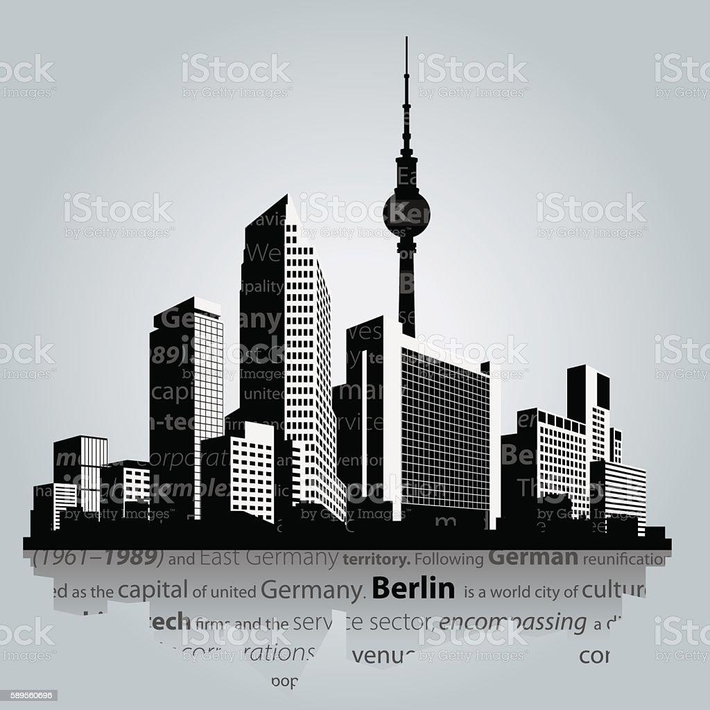 Berlin vector cityscape. vector art illustration