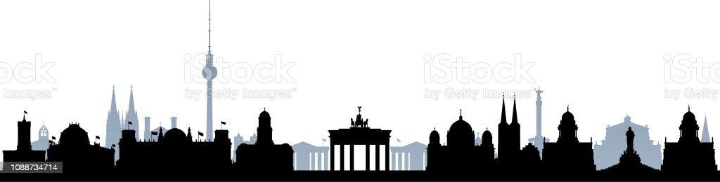 Berlin (alle Gebäude sind Separate und komplett) – Vektorgrafik
