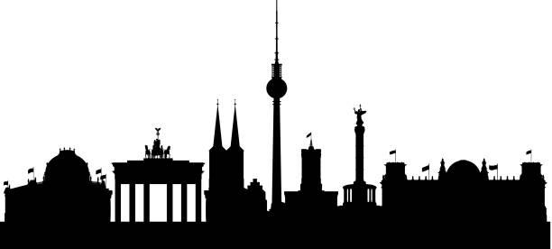 Berlin Berlin skyline. berlin stock illustrations