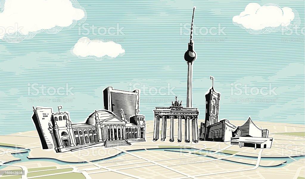 Berlin vector art illustration