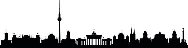 bildbanksillustrationer, clip art samt tecknat material och ikoner med berlin - berlin city