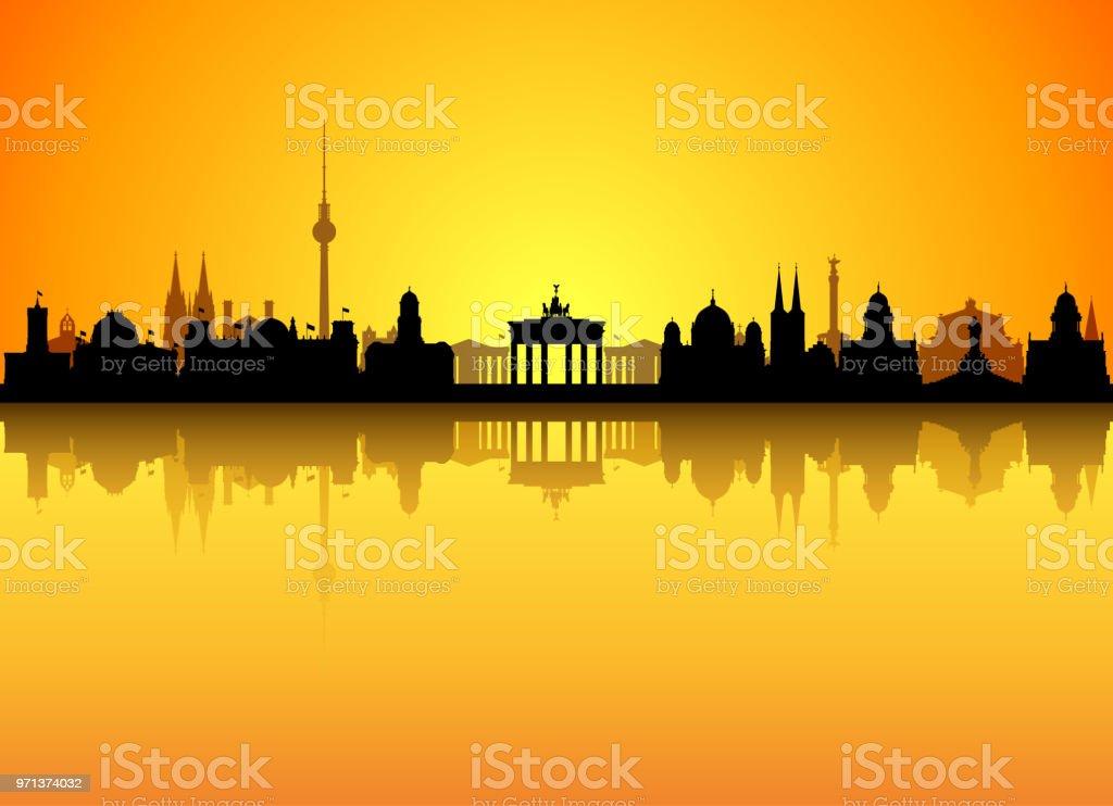 Berlin (alle Gebäude sind vollständig und beweglich) – Vektorgrafik